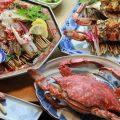竹崎カニと絶景露天風呂が堪能できる温泉旅館といえば海上館です。