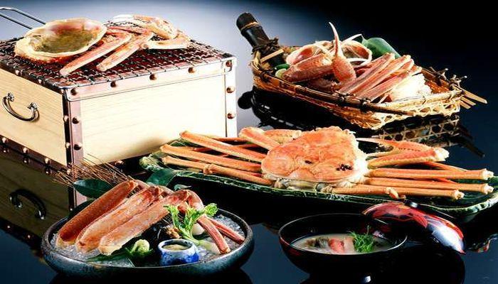 城崎温泉西村屋の蟹(かに)料理を画像で紹介