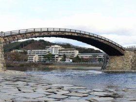 錦帯橋と岩国国際観光ホテル