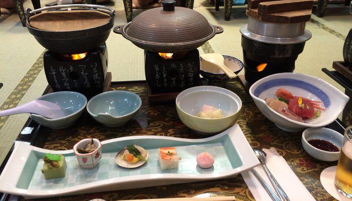 石和温泉ホテルふじの宴会料理