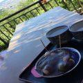 大平山神社に隣接する景色のいい食事処で名物料理をいただきました。